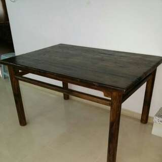 Chinese Antique Dining Table Elm Wood