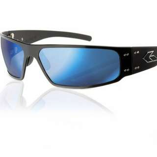 Gatorz Magnum 2.0 Black Smoked Polarized with Blue mirror Sunglasses