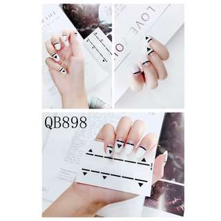 2017 new style super fashion nail sticker and waterproof with free nail file