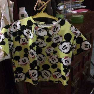 Mickey mouse boxy crop top