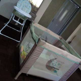 Baby Chair and Cot