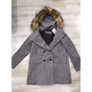 NEW ZARA WINTER COAT GRAY BAJU DINGIN MURAH JACKET MURAH PROMO SALE