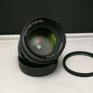 Voigtlander nokton 50mm f1.5 leica M mount