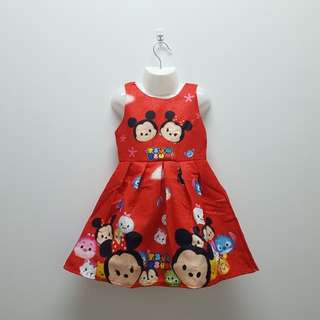 TSUM TSUM DRESS - RED