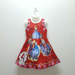 SOFIA THE FIRST DRESS - RED