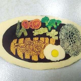 咖哩飯彩色貼紙