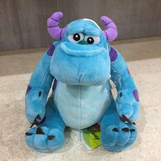 Monster Inc Sulley Plushie with hanging suction cup