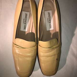 Cute Vintage yellow leather shoes