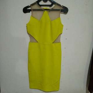 Midi Dress Bodycon Light Green,ato Lemon