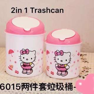 Hello Kitty 2 in 1 Trash Can