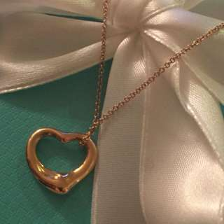 AUTHENTIC TIFFANY ELSA PERETTI ROSE GOLD OPEN HEART NECKLACE