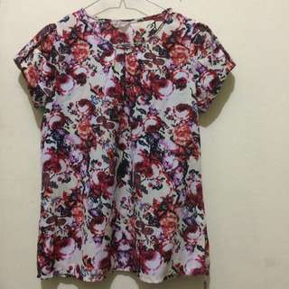 Preloved Blouse Floral