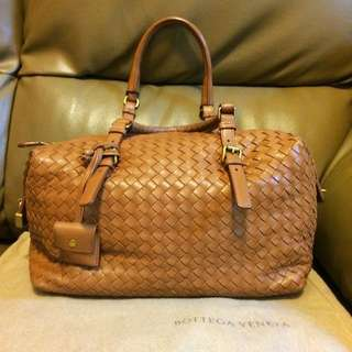 Bottega Veneta BV 啡色手挽袋 Boston Bag 100% Real 70% New