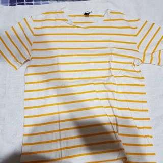 Yellow and White Stripes Shirt
