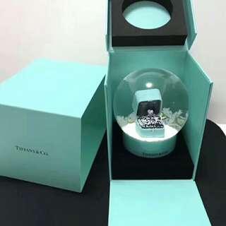 Tiffany&Co 鑽戒水晶球