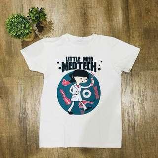 Plain White Shirt Little Miss MedTech T-Shirt
