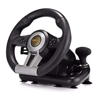 💯 PXN V3II Racing Game Steering Wheel with Foldable Pedal
