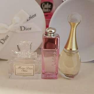 dior set of miniatures