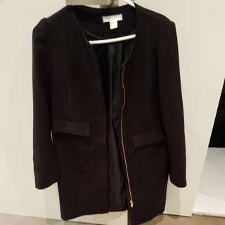 H&M black coat