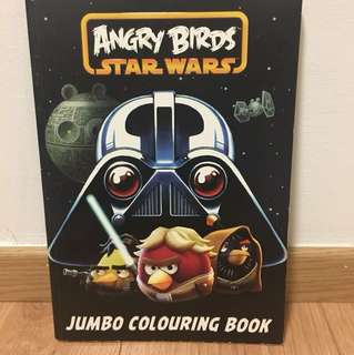 Angry bird Star Wars jumbo colouring book