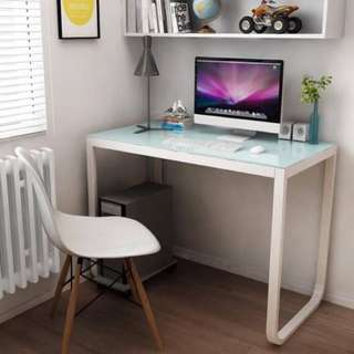 Office Desk Computer Table Tempered Glass Furniture
