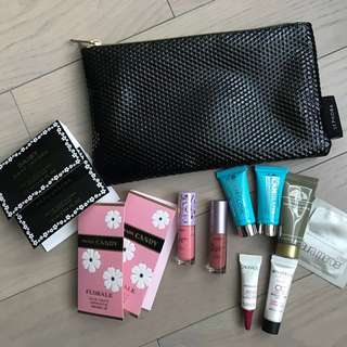 Sephora makeup bag and deluxe samples