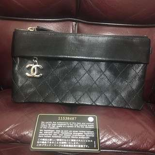 Chanel pouch clutch used