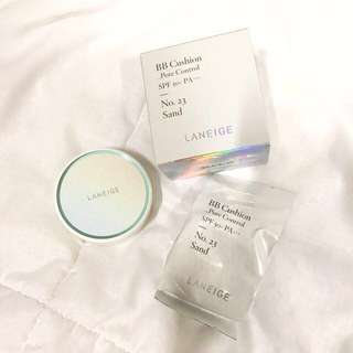 Laneige BB Cushion Pore Control SPF 50+ PA+++ Refill (No. 23 Sand)