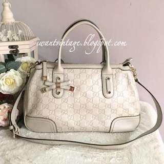 Gucci Guccissima Princy Shoulder Bag-Off White