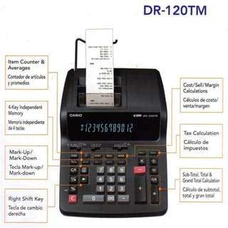 Casio DR-120TM PRINTING CALCULATOR  🔹️desktop type  🔹️ 12 digits  🔹️2 color printing