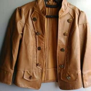 Jaket kulit brown