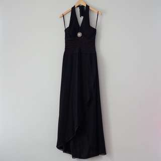 Halter Neck Black Dress