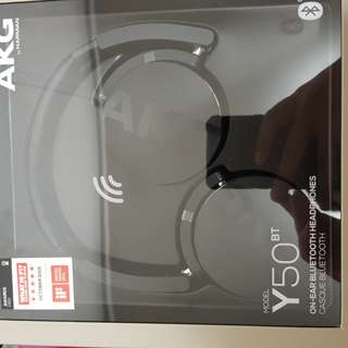Brand new AKG Y50 wireless Bluetooth headset.