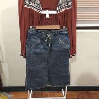 Mango Vintage Midi Skirt