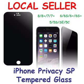 🚚 Privacy Full-Cover Tempered Glass SP for iPhone