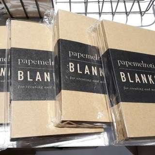 Kraft blank notebooks