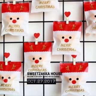 聖誕節糖果包裝袋 聖誕老公公包裝袋 餅乾袋 紙袋塑膠袋 糖果袋