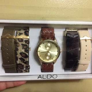 Aldo casual watch with interchangeable straps