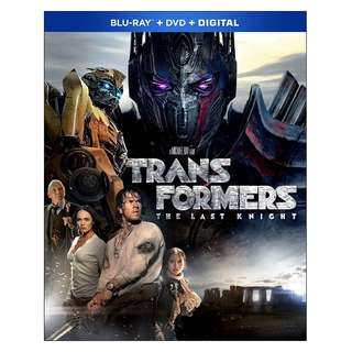 🆕 Transformers: The Last Knight Blu Ray + DVD