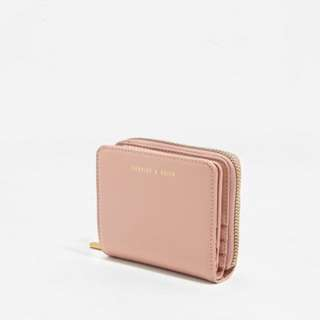 Charles & Keith square wallet (Nude)