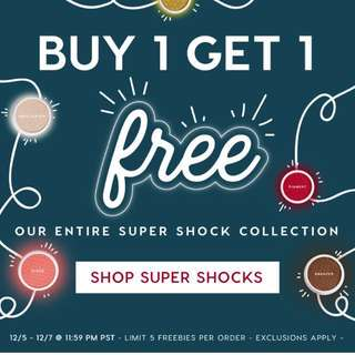 (CLOSED) 1 FOR 1 ⚡️Preorder⚡️[COLOURPOP] Super Shock Collection Buy 1 Get 1 Free // Get It Now 😱