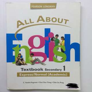 All About English Textbook Sec 1
