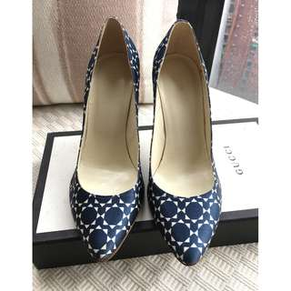 Patrizia Pepe pattern printed satin heel pumps shoes  @Size 37  ~Made in Italy