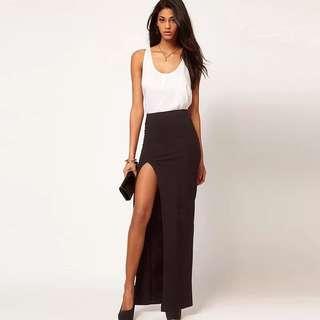 Split Long skirt