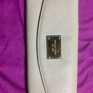 Authentic MK white leather wallet