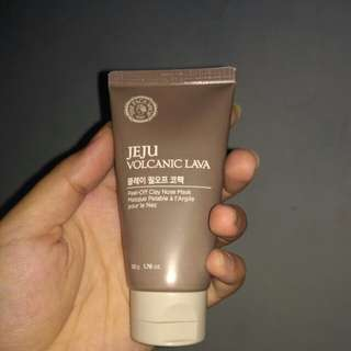 The Face Shop Jeju Volcanic Lava Peel-Off Clay Mask