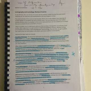 AAE43G - Lexicography & Lexicology Notes