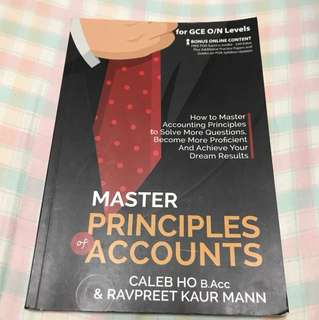 Master ofPrinciples Of Accounts poa guidebook