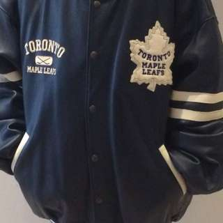 Roots Leather Toronto Maple Leaf Jacket