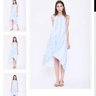 f226e7fbd Caro Yanez X Klarra Pleated Halter Dress